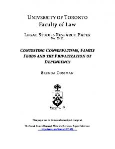 Faculty of Law - SSRN