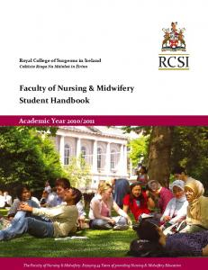 Faculty of Nursing & Midwifery Student Handbook - Royal College of ...
