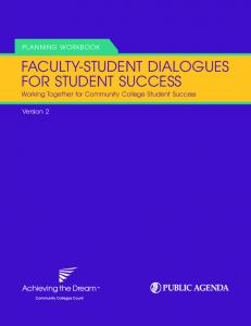 Faculty-StuDent DialogueS For StuDent SucceSS - Public Agenda ...