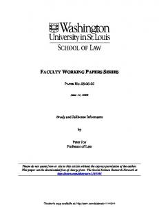 faculty working papers series - SSRN papers