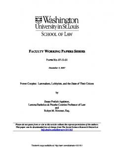 faculty working papers series - SSRN
