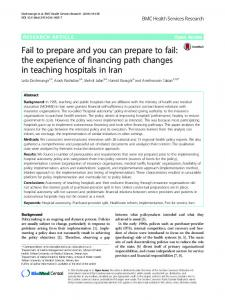 Fail to prepare and you can prepare to fail: the