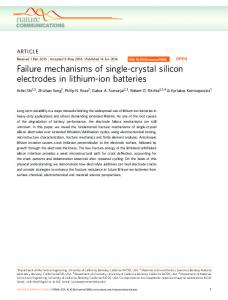 Failure mechanisms of single-crystal silicon electrodes in lithium-ion ...