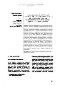 failure mode effects and criticality analysis - International Journal for ...