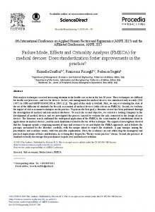 Failure Mode, Effects and Criticality Analysis ... - Re.Public@Polimi