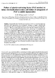 Failure of platelet-activating factor (PAF-acether) to ... - Reproduction