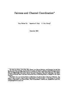 Fairness and Channel Coordination