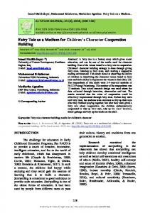 Fairy Tale as a Medium for Children's Character