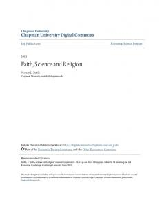 Faith, Science and Religion - Chapman University Digital Commons