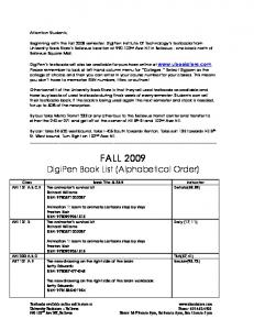 Fall 2009 Booklist.pdf - DigiPen