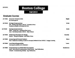 FALL 2013 Booklist - Boston College