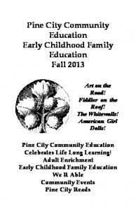 Fall CE 2013 - Pine City Community Education