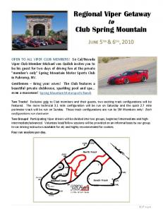 Fall Getaway to Spring Mountain - SoCal Viper