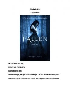 fallen - Readers StuffZ