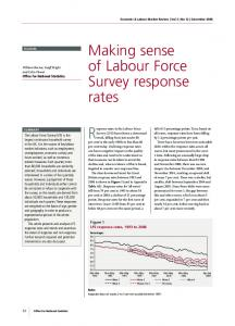 falling response rates - UK Government Web Archive