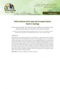 Fallow Reduces Soil Losses and Increases Carbon Stock in ... - SciELO