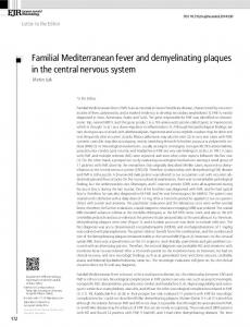 Familial Mediterranean fever and demyelinating