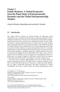 Family Business: A Global Perspective from the Panel ... - Springer Link