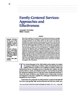Family-Centered Services: Approaches and ... - Princeton University