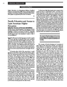 Family Education and Access to Latin American Higher Education