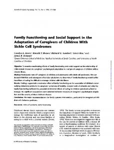 Family Functioning and Social Support in the