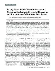 Family-Level Benthic Macroinvertebrate Communities ... - Luther College