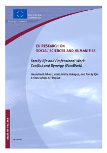 Family life and Professional Work: Conflict and ... - Cordis - Europa EU