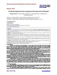 Family planning practices among married males in North Bengal