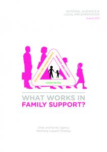 family support? what works in