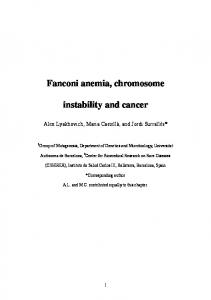 Fanconi anemia, chromosome instability and cancer
