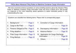 FAQs about Advance Filing Rules on Maritime Container Cargo ...