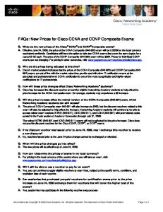 FAQs: New Prices for Cisco CCNA and CCNP Composite Exams