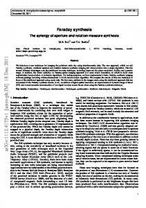 Faraday synthesis: The synergy of aperture and rotation measure ...