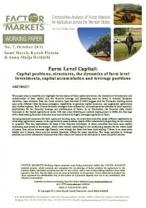 Farm Level Capital - AgEcon Search