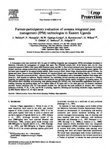 Farmer-participatory evaluation of cowpea integrated pest management