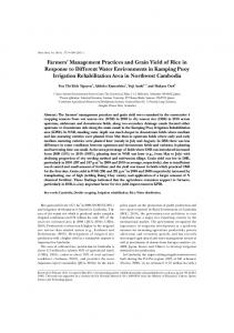 Farmers' Management Practices and Grain Yield of Rice in Response