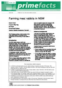 Farming meat rabbits in NSW