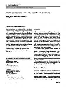 Fascial Components of the Myofascial Pain Syndrome