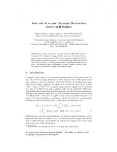Fast and Accurate Gaussian Derivatives based on ... - Semantic Scholar