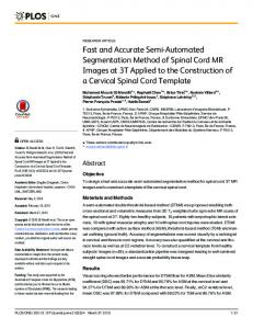 Fast and Accurate Semi-Automated Segmentation Method of Spinal ...