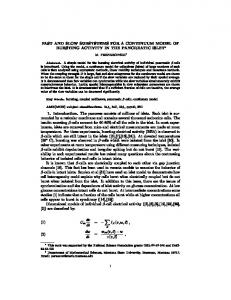 FAST AND SLOW SUBSYSTEMS FOR A CONTINUUM MODEL OF ...