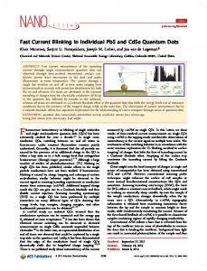 Fast Current Blinking in Individual PbS and CdSe Quantum Dots