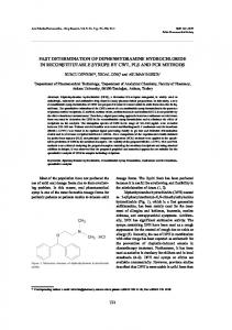 fast determination of diphenhydramine hydrochloride in ...