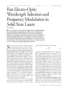 Fast Electro-Optic Wavelength Selection and Frequency Modulation ...