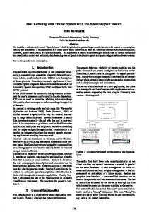 Fast Labeling and Transcription with the ... - Semantic Scholar