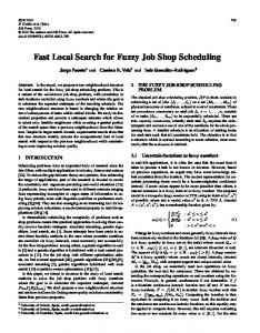 Fast Local Search for Fuzzy Job Shop Scheduling - Core