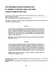 fast microwave assisted bioreduction of aromatic aldehydes ... - SciELO