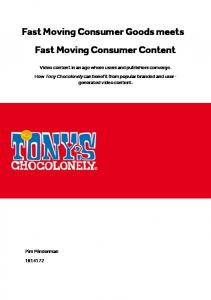 Fast Moving Consumer Goods meets Fast Moving ...