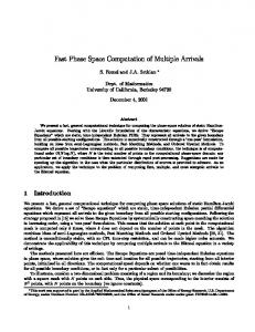 Fast Phase Space Computation of Multiple Arrivals S ... - Berkeley Math