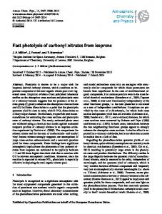 Fast photolysis of carbonyl nitrates from isoprene